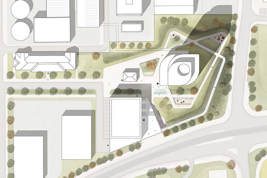 Energie- und Zukunftsspeicher, Heidelberg   Fassadengestaltung und Restaurantneubau   Schoener und Panzer Architekten BDA
