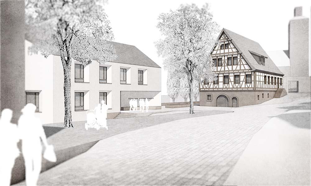 Rathaus Unterensingen | Erweiterungsneubau und denkmalgerechte Sanierung | Schoener und Panzer Architekten BDA