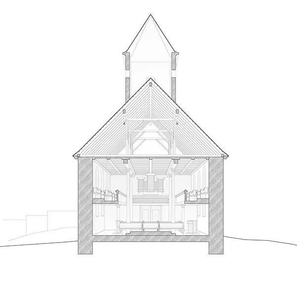 Ev.-Luth. Kirche Leipzig Zuckelhausen | Umgestaltung | Schoener und Panzer Architekten BDA