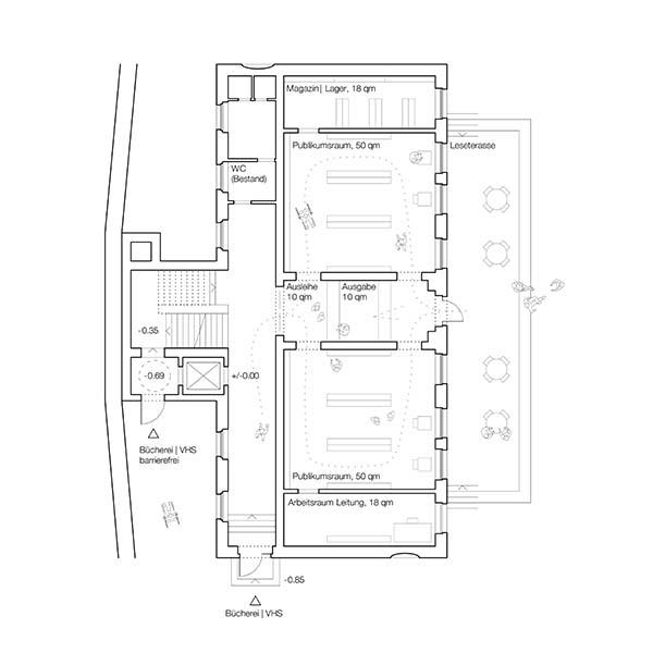 Bibliothek Bad Rodach | Umnutzung und Sanierung | Schoener und Panzer Architekten BDA